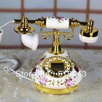 O envio gratuito de cerâmica telefone rural antigo telefone europeu restaurar antigas maneiras