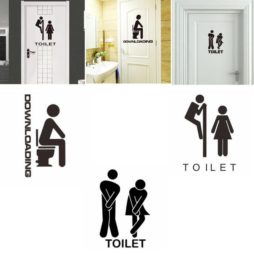 Съемный милый человек женщина Санузел Туалет WC Стикеры Семья DIY Декор Туалет Стикеры для ванной Стикеры wandaufkleber муур Стикеры s