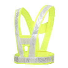 Police reflective vests Highlight lattice Cycling road traffic safety campaign Safety Clothing Fluorescent vest reflective safety warning pvc strip garment accessories safety vest clothing reflective crystal lattice pvc tapes