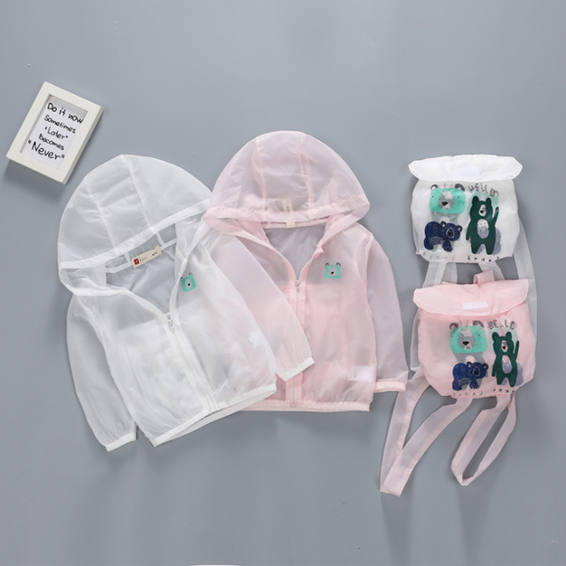 Kids Sunscreen Hoodie Summer 2018 Baby Boys Sweatshirts Cartoon Hoodies For Girls With Long Sleeve Children Clothes Brand Tops