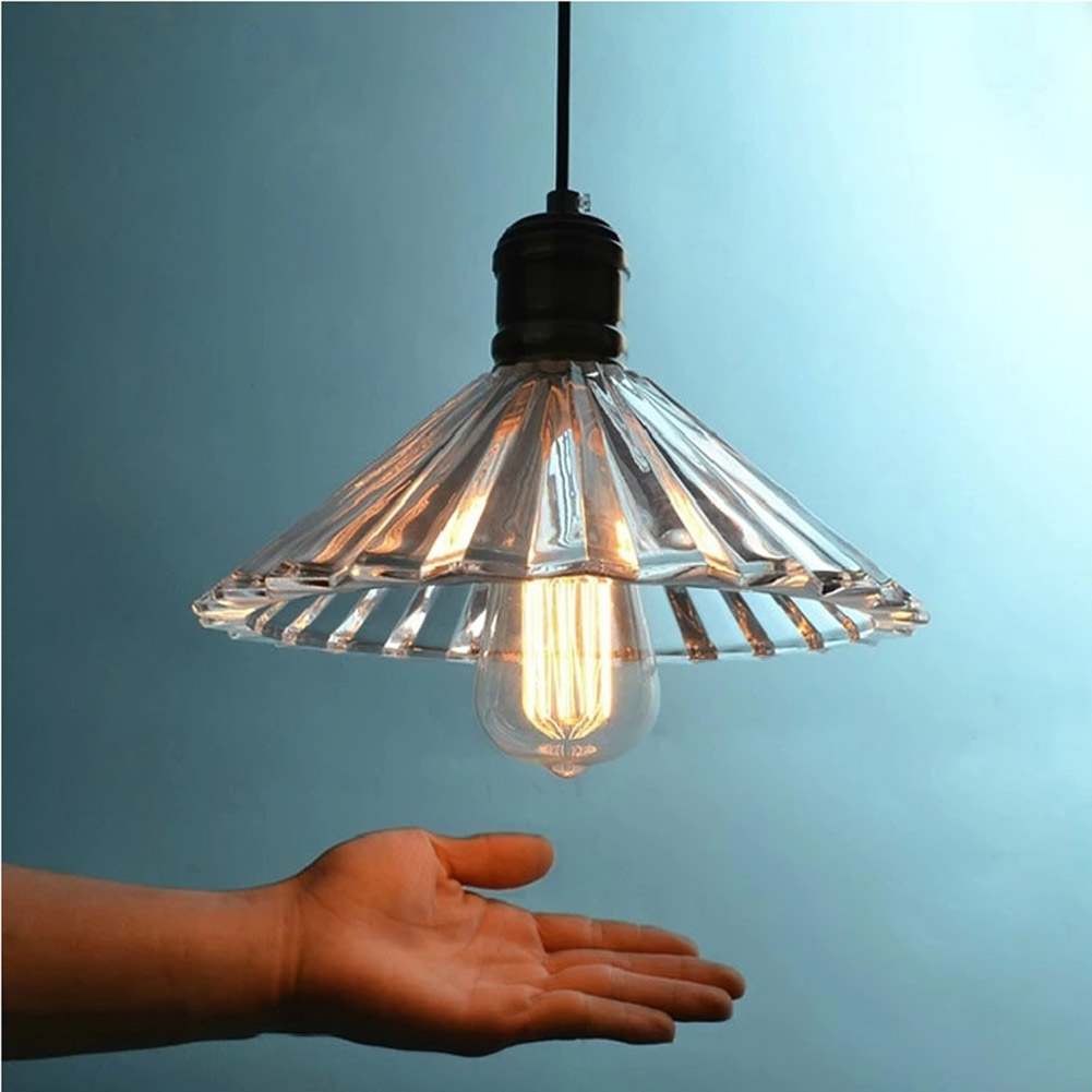 ФОТО Pendant Light Glass Crystal Umbrella Restaurant Pendant Light Single Pendant Light Vintage Retractable Wall Lamp American Style