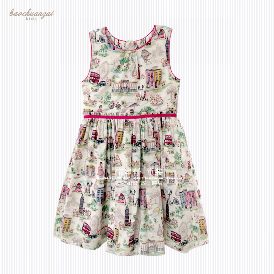 Kids Dresses for Girls 2017 Brand Baby Girls Dresses Half Sleeve Princess Dress Girls Clothes House Print Children Dress girls dresses winter 2017 brand children dress princess costumechild dog cat house print pattern kids dresses for girls clothes