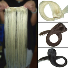 18 Inches 2Pcs/ Lot Natural Hair Straight Clip In Hair Extension Hair accessories FREE SHIPPING