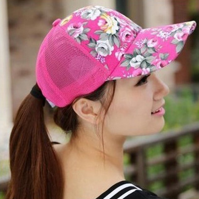 1 pcs 2017 summer baseball caps for men snapback lids mesh breathable  casual floral adjustable hats women hats 30f620ae3