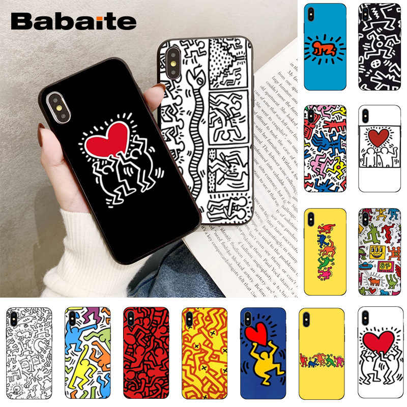 Babaite Keith Haring Colorful Cute Phone Accessories Case For Iphone 8 7 6 6s Plus 5 5s Se Xr X Xs Max 11 11pro 11promax
