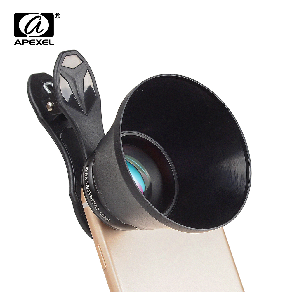 APEXEL Portrait Lens 2.5X HD Telephoto 70mm Pro Phone Camera For IPhone Samsung HTC LG Xiaomi Phone Accessories Dropshipping