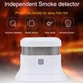 Высокое качество детектор дыма автономная фотоэлектрическая пожарная дымовая сигнализация домашняя охранная сигнализация