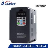 Aubalasti ЧПУ инвертор 4kw 5.5kw 7.5kw преобразователь частоты utput инвертор 380 В 9a 13a 17a 400 Гц использовать для ЧПУ