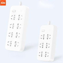 Xiaomiパワーストリップ高速充電2500ワット10a 6標準ソケット/8標準ソケット/3ソケット付き1メートル/5メートルケーブル充電電源