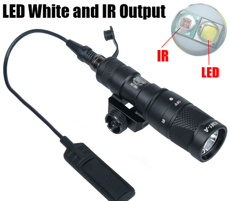 Tactical M300V IR Light LED Scout Weapon Lights Softair Gun Flashlight Rifle Lanterna Hunting Lamp Airsoft Arma