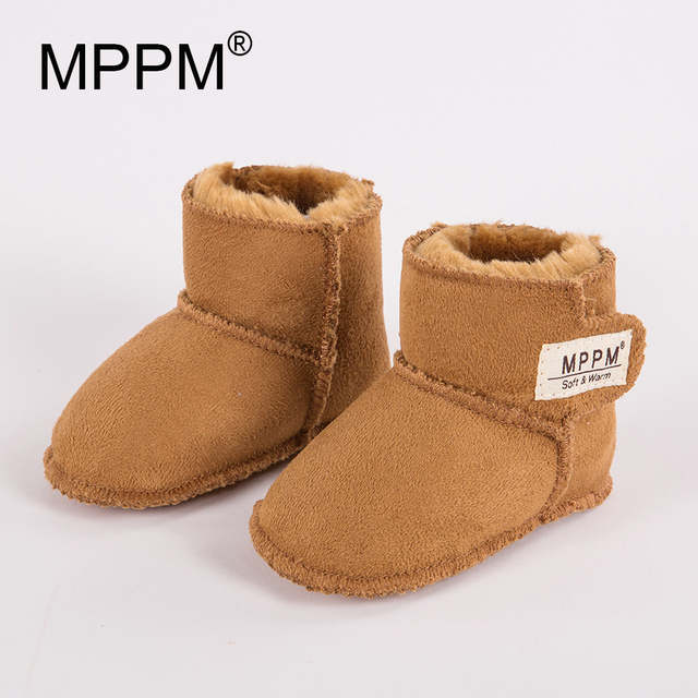 MPPM Baby Snow Boots for Winter Infant First Walker Soft Sole Girls Baby Booties Boy Baby Boots 6-24M