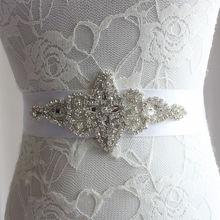 Crystal Beaded Wedding Accessories Wedding Belt Sashes Bride Waistband Bridal Sashes Belts Free Shipping