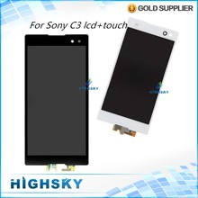 Tested Replacement Parts Display For Sony Xperia C3 D2533 D2502 LCD With Touch Screen Assembly 1 Piece Free Shipping
