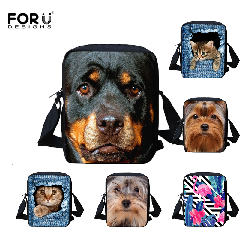 Cute Kids Messenger Bag Casual Women Men Shoulder Bags Pug Dog Rottweiler Print Crossbody Bags for Girls Children Shoulder Bag dachshund dog design girls small shoulder bags women creative casual clutch lattice cloth coin purse cute phone messenger bag