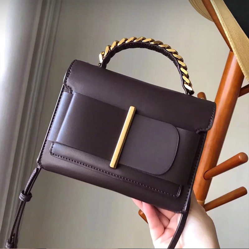 OLOEY femmes PU cuir mode sac carré fronde arc chaîne décorative sac à bandoulière Explosion modèles haute qualité Messenger sac