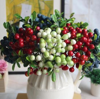 10pcs Artificial Berry Leaf Branch For Flower arrangement Wedding Party Home Hotel Bridal Bouquet Decoration фото