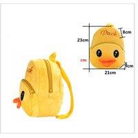Kids pluche rugzakken Cartoon geel duck pluche speelgoed voor kinderen nieuwe leuke animal mini schooltas student Kleuterschool zak