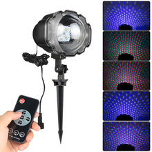 Snowfall LED Laser Projector RGBW Stage LED Light Landscape or hang on Wall lamp Outdoor Christmas Garden Wedding Lighting CA224 недорого