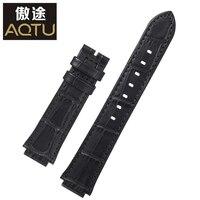 Genuine Leather Watchbands For SWAROVSKI Ladies Watch Straps 20MM Women No Buckle Watch Band Female Leather