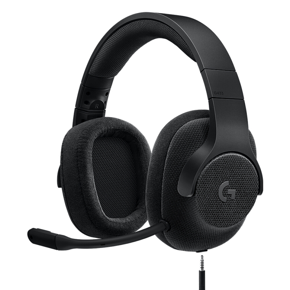 все цены на Logitech G433 7.1 wired surround sound game headset microphone