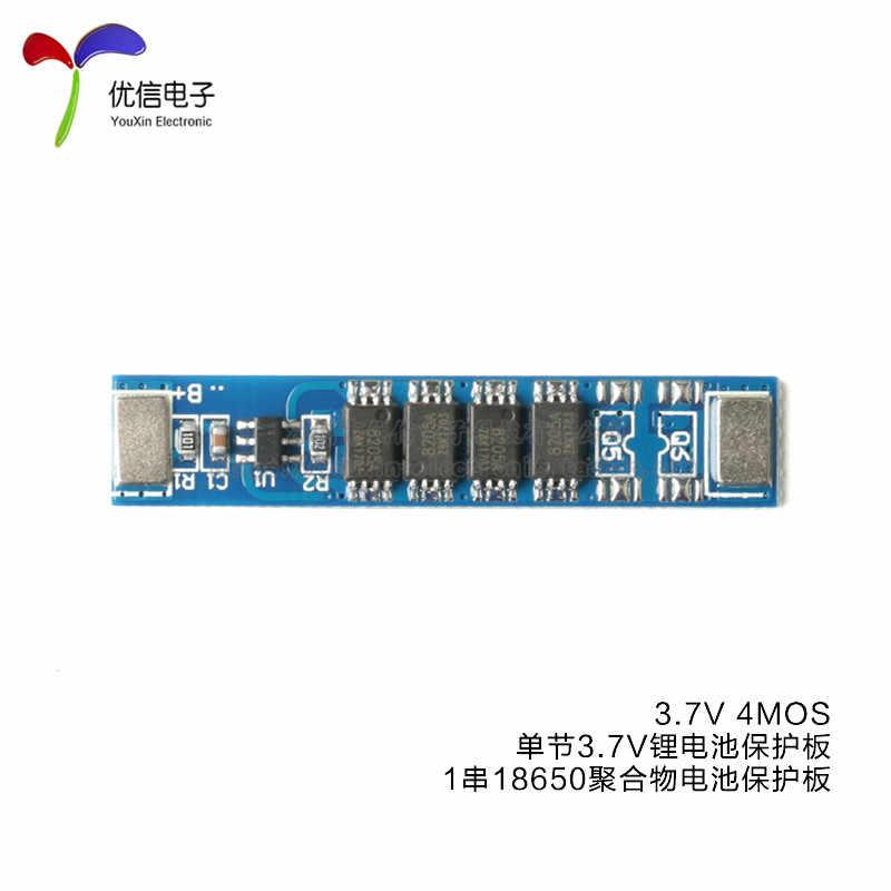 Único 3.7 V placa de proteção da bateria de lítio 1 corda 18650 bateria de polímero de proteção 6-12 V