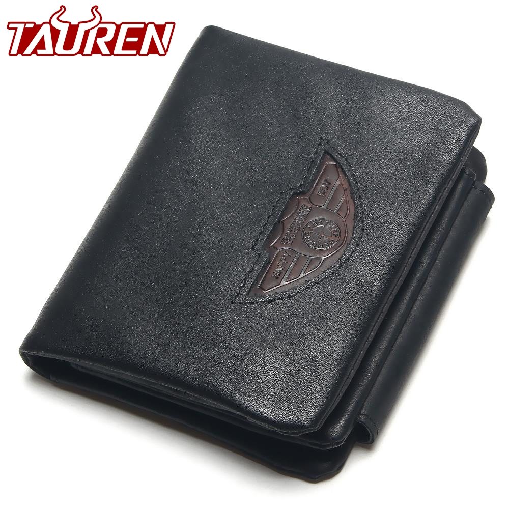 TAUREN Men Wallet 100% Design Men Trifold Wallets Fashion Purse Card Holder Wallet Man Genuine Leather With Zipper Coin Pockets slymaoyi classical men wallets genuine leather short wallet fashion zipper brand purse card holder wallet man with coin bag page 9