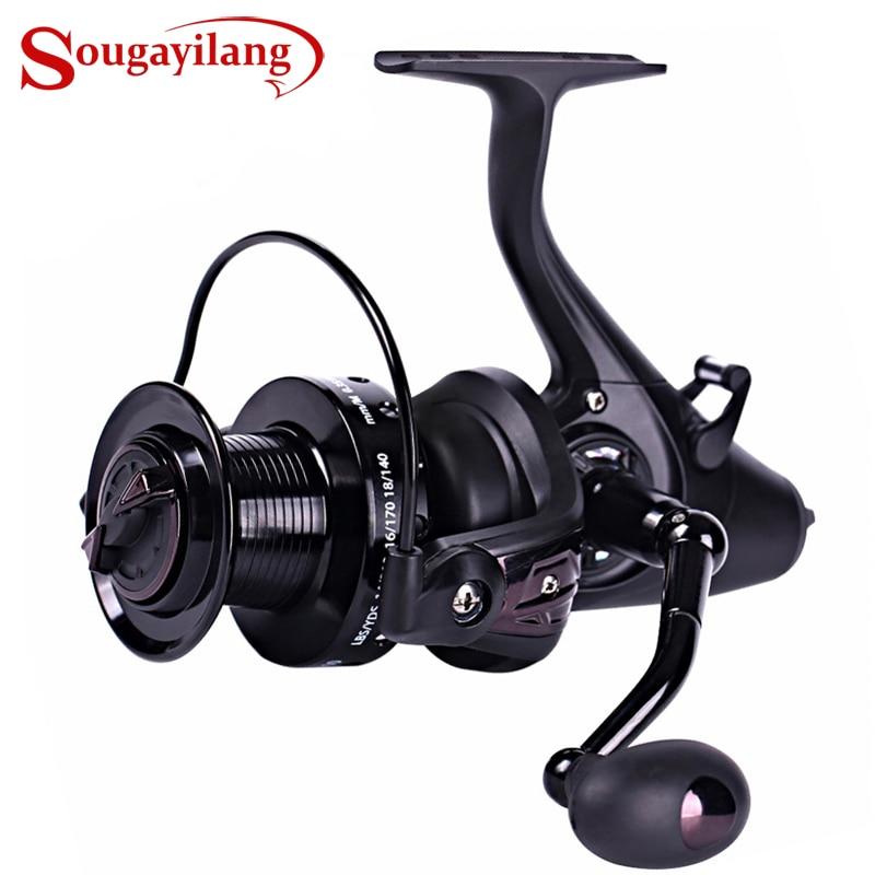 Sougayilang Carp Spinning Fishing Reels Left Right Handle Metal Spool 12 1BB Stainless Steel Shaft Rear