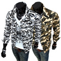 Clothing Sale Rushed Turn-down Collar Cotton Leisure 2014 Male Outerwear Personality Camouflage Thin Turn-down Collar Jacket