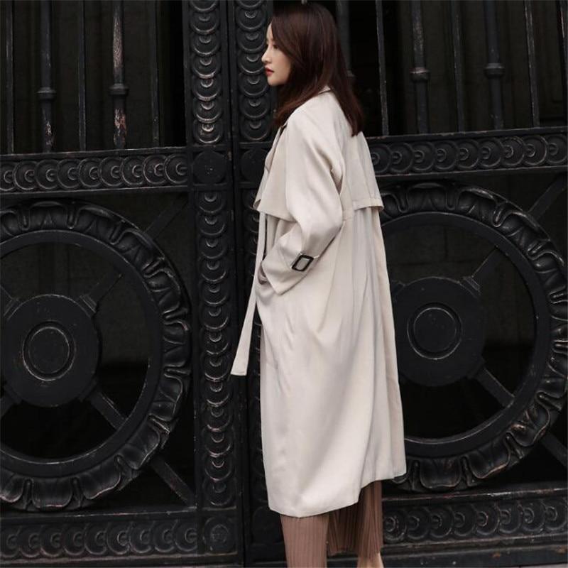 Printemps Nouveau Élégant Casual Longue Ma368 coffee vent Femmes Tranchée Manches Coupe 2018 Coréennes Mode Longues Manteau Apricot pSqgxSwd5