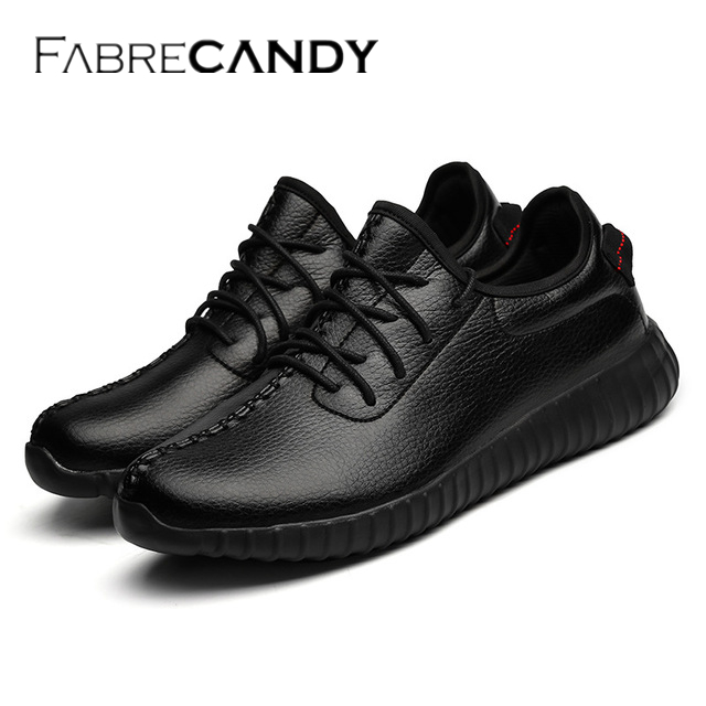 FABRECANDY New Spring Autumn Men Casual shoes Fashion Breathable Flat men shoes sneakers pu Leather Waterproof Plus size 37-47 chilenxas new fashion spring autumn leather men casual shoes breathable lightweight comfortable lace up solid waterproof 2017