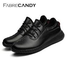 FABRECANDY New Spring Autumn Men Casual shoes Fashion Breathable Flat men shoes sneakers pu Leather Waterproof