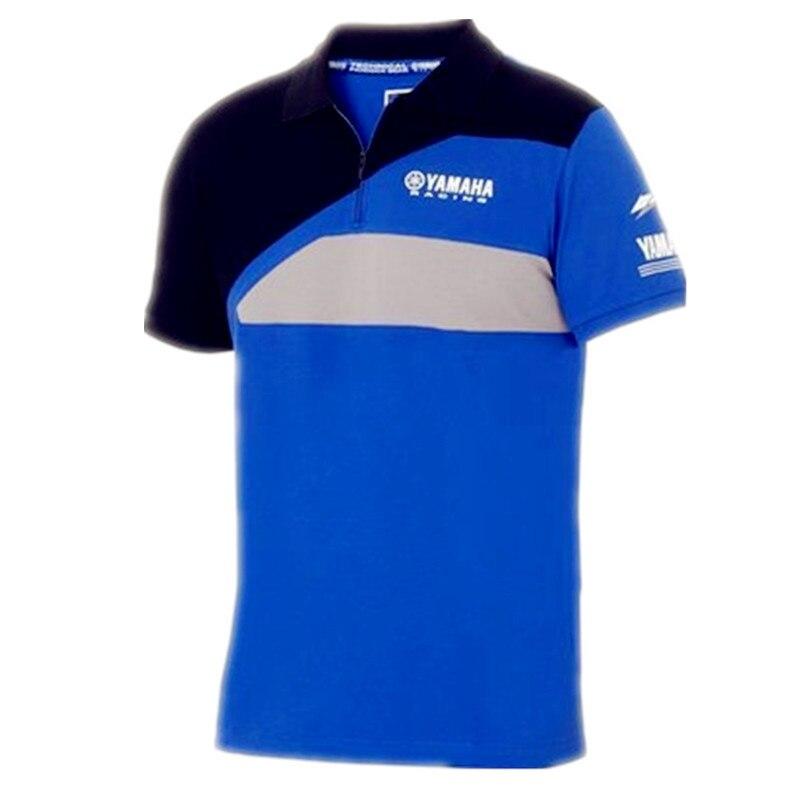 High quality mens Fashion Leisure Sports Golf Motorcycle POLO Cotton T-shirt Bule For Yamaha MOTOGP Polo Shirt