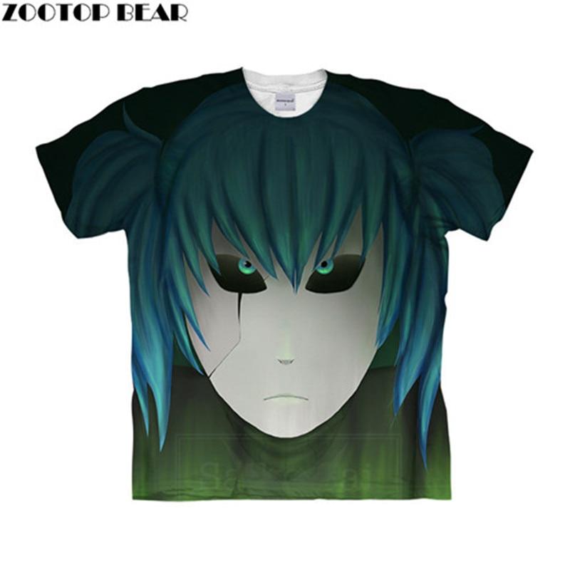 Sally Face Blue Hair 3D Women t shirt Travel Summer tshirt Men t-shirt Tee Short Sleeve Shirt Streetwear Dropship ZOOTOPBEAR New