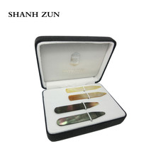 SHANH ZUN High Polish Pure Mother Pearl Shell Collar Stays Wedding Gift for Men 2.37