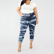женщины карандаш джинсовые брюки синие джинсы с высокой талией женщина повседневная винтаж бойфренд