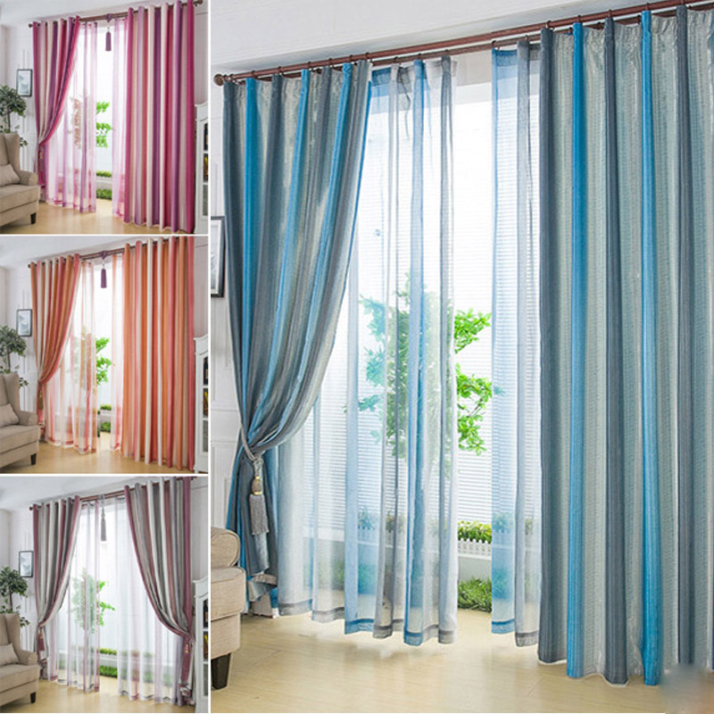 Double Sided Drapes : ᗕnew double sided striped colored blackout
