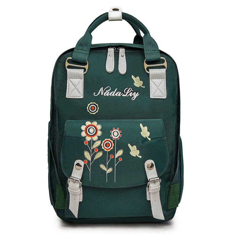 Vintage Emborid sac à dos sac à langer étanche bébé Nappy sacs grand sac de maternité meilleur bébé sac à langer couche voyage sac à dos