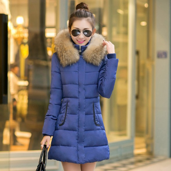 2017 Autumn Winter Women Basic Jacket Casual Coat Parkas Mujer Female Hooded  Cotton Thickened Coats Overcoat  Women  W09 muxu new autumn winter coat women basic jacket coat female slim hooded cotton coats casual silver long sleeve ladies jackets