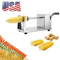 Manual Stainless Steel Twisted Potato Slicer Spiral Fruit Vegetable Cutter French Fry Manual Tornado Chips Machine