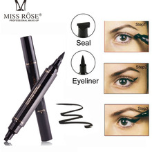 Makeup Liquid Rose Eyeliner Pencil maquiagem Quick Dry Waterproof wing Eye Liner With Miss Stamp Eye Pencil free shipping
