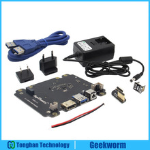 DC 5 V 4A Puissance Adaptateur w/UE/US Plug + X820 2.5 pouce SATA HDD/SSD D'extension de stockage Conseil Kit pour Raspberry Pi 3 Modèle B/2B/B +