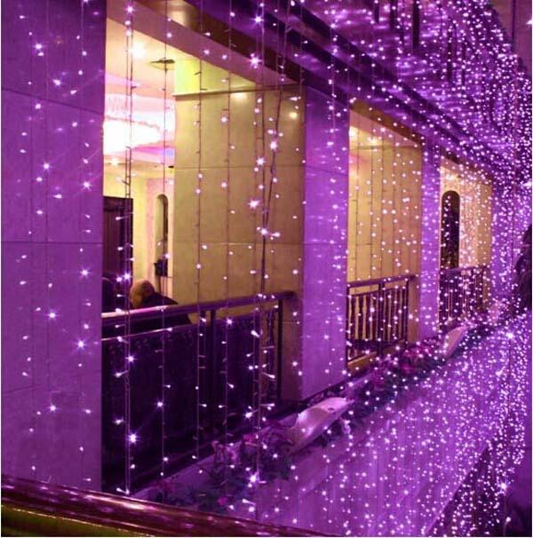 10x5 m 1600 SMD 8 Colori HA CONDOTTO LA Luce Della Stringa di Natale Wedding Party di capodanno Decorazioni Layout di Scena Tenda luce di sfondo - 4