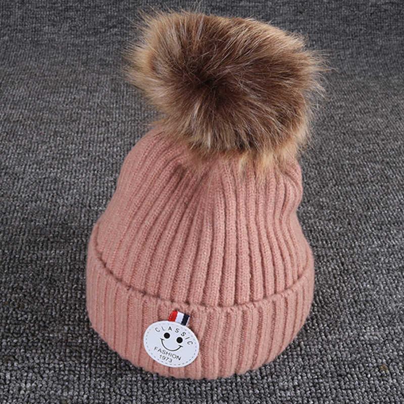 ทารกแรกเกิดถักหมวกเด็กทารกหมวกฤดูหนาวน่ารักสำหรับสาวหนาหมวกเด็ก Beanies หมวกเด็กสำหรับ 8-36 เดือน GH662