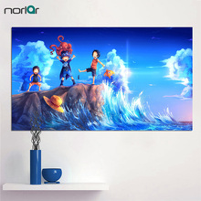 Unframed One Piece Classic Anime Canvas Poster Wall Art Three Brothers Sabo Luffy Ace Giclee Poster Print On Canvas Home Decor