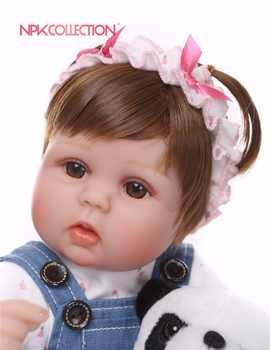 NPK 40CM soft Silicone Reborn bebe Baby Doll kids Playmate Lifelike toddler Baby Baby Dolls For Princess Children Kids Toy