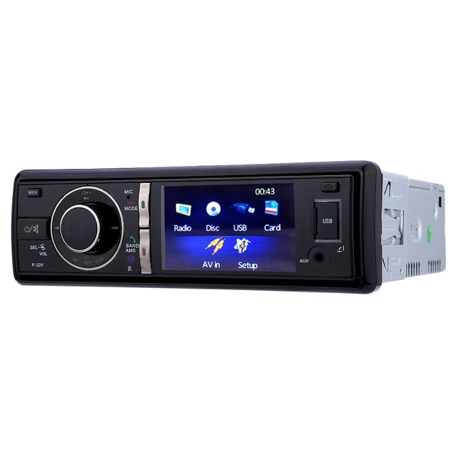 320 3 inch Car Audio Stereo Bluetooth DVD Player Hands-free with Remote Control 12V Car Audio Car Electronic With Rear Camera