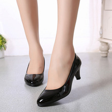 Women Shoes Classics Pointed Toe Slip-On Mid Heel 5.5cm Thin High Heels Shallow Solid Work Lady Office Shoes Female Pumps Shoes pointed toe shallow high heel pumps women pink flower decorated super high thin heel shoes female high heels dress shoes