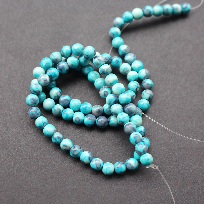 Stone Beads 4mm stone beads Rainbow stone  Mottled Blue Gray color Fashion Beads  for jewelry making