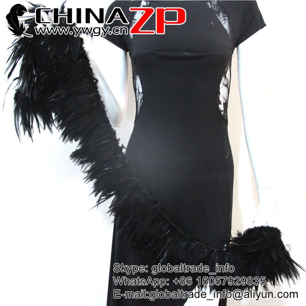 Chinazp 850 штук/комплект 5 до 8 дюймов Высокое качество обесцвеченных и окрашенных черный нанизаны перья петуха седло оптовой Химическое наращи...
