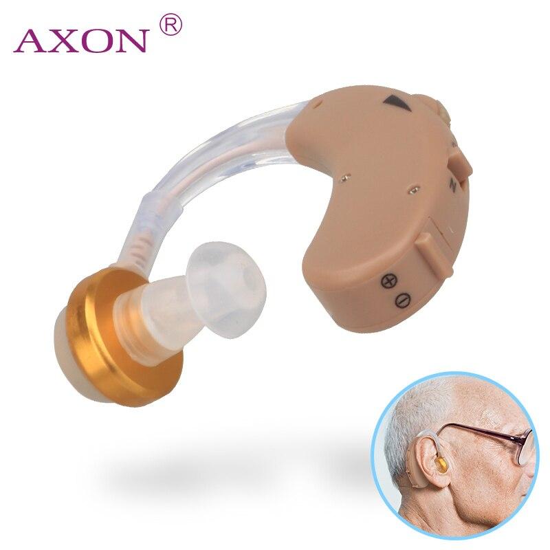F-138 Ear Aide Auditive Mini Dispositif Volume Sonore Réglable Voix Amplificateur Amélioration Entendre Clairement pour l'aîné Sourds Sida Soins